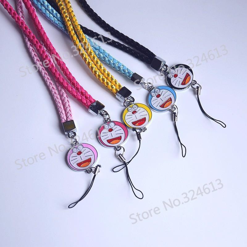 50pcs/Lot Cartoon Lanyards PU Leather Mobile phone Strap For ID Card Key Mobile Phone USB Holder DIY Hang Rope Lariat Lanyard(China (Mainland))