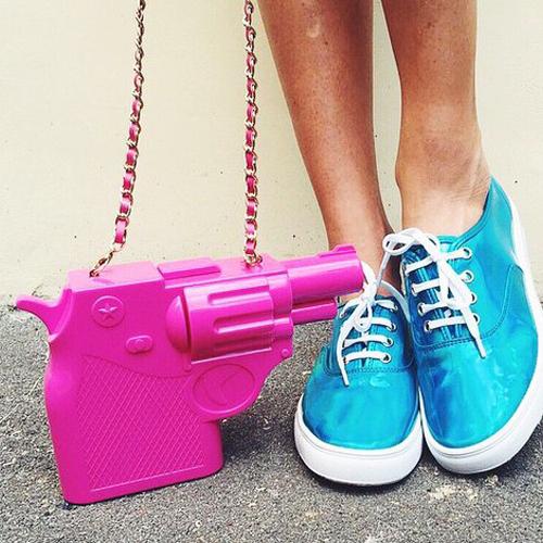 2016 новая тенденция пластиковый пистолет форма персонализировала мода свободного покроя сумка сумочки-клатчи ну вечеринку кошелек щитка 3 цветов