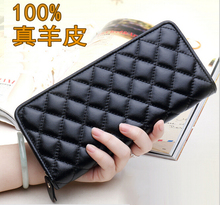 Free Shipping The new 2015 popular women's long wallet leather hand bag Sheepskin coin purse lady handbags