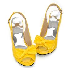 Womens Sexy Peep Toe Low Heel Women Sandals Bow Slingbacks Women Summer Sandals Shoes(China (Mainland))