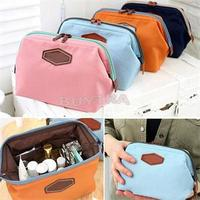 4 Colors New Fancy Travel Cosmetic Bag Makeup Case Zipper Cheap Clean Mini Women Bags