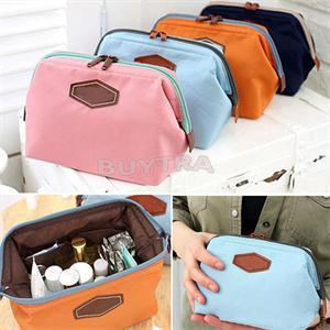 4 Colors New Fancy Travel Cosmetic Bag Makeup Case Zipper Cheap Clean Mini Women Bags(China (Mainland))