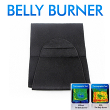 Free Shipping 2014 Hot sale new THE BELLY BURNER Weight Loss Belt Lose Belly Fat Color BLACK #1941