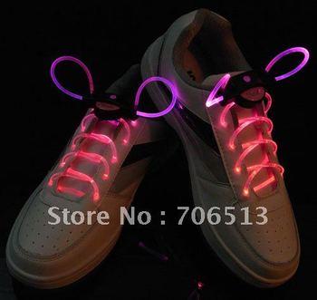 Free shipping(50pairs/lot) Wholesale Dropship Promotion lighting shoelace Street Dance Glowing Disco Flash light up LED Shoelace