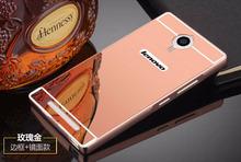 For Lenovo K80m K80 P90 Metal Case Mirror Back Cover&Aluminum Frame Bumper Phone Bag Cases For Lenovo K80m K80 P90 Shell Housing