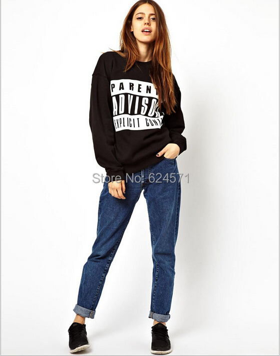 Hoodies Women Sweatshirts Tracksuits Sport Pullovers PARENTAL ADVISORY Printed Explicit Content Tops Outerwear Jumper - Veyron Clothing Co., Ltd store
