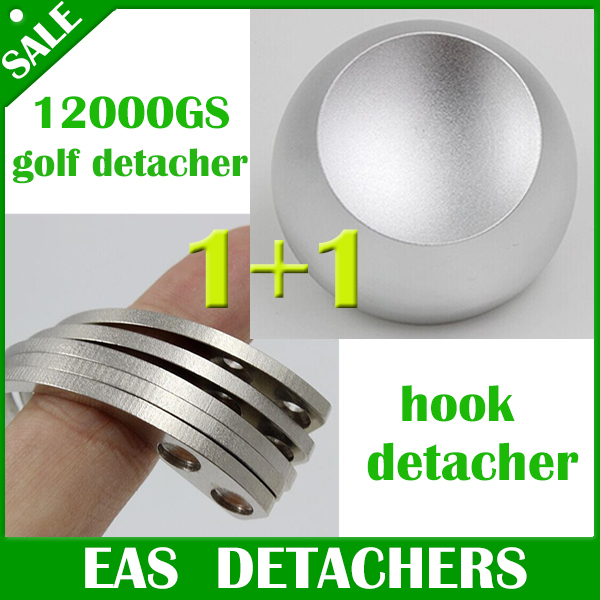 Universal magnetic detacher EAS Hard Tag 1pc golf detacher 12000gs+ 1pc hook detacher eas hook(China (Mainland))