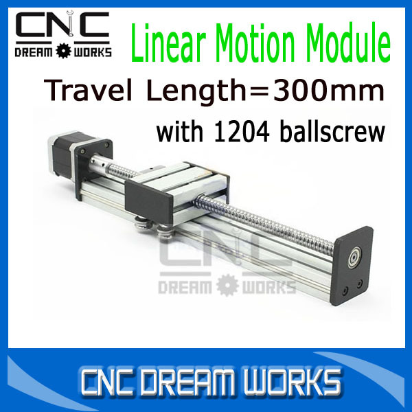 Linear Sliding Table with Ballscrew 1204 Sliding Table Travel 300mm Length Linear Module System CN871(China (Mainland))