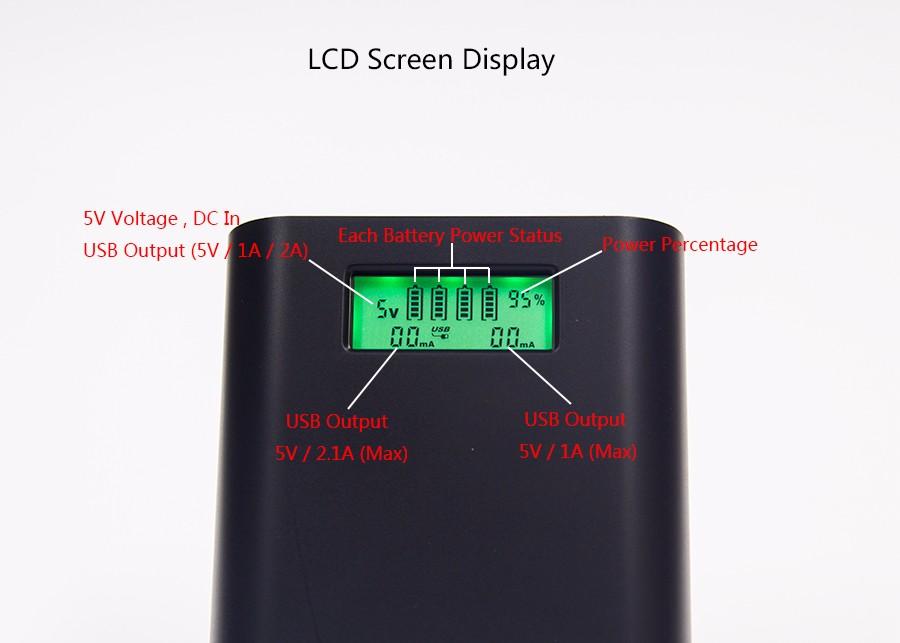 ถูก Soshine E3Sจอแอลซีดีที่ชาร์จPower Banks 2AแบบDual USBเอาท์พุทชาร์จมือถือPortable18650เครื่องชาร์จแบตเตอรี่สำรอง+ USBค่าเคเบิ้ล