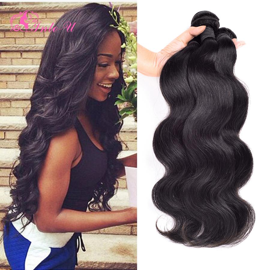 Rosa hair product Brazilian virgin hair body wave 4pcs lot brazilian body wave human hair weaves 8-30 brazilian natural black<br><br>Aliexpress