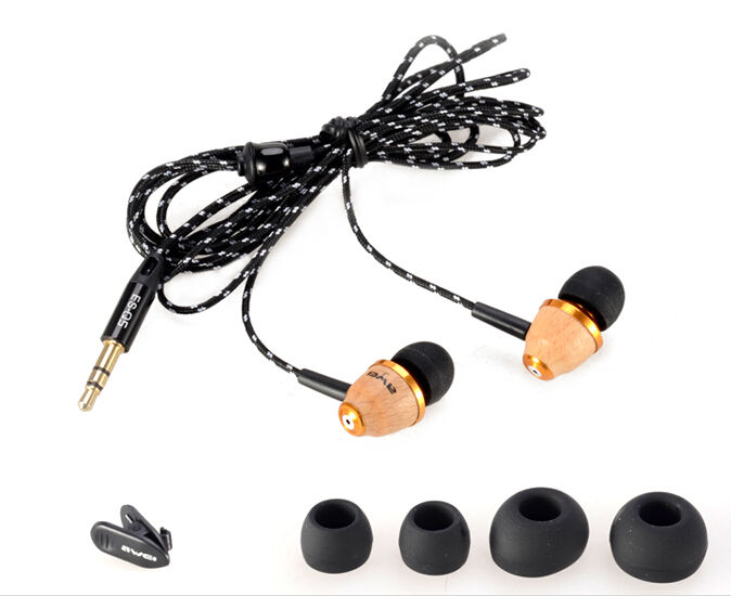 ES-Q5 Stereo Wood Headphones Earphones Earbuds For mp3 mp4 cell Phone Free Shipping(China (Mainland))