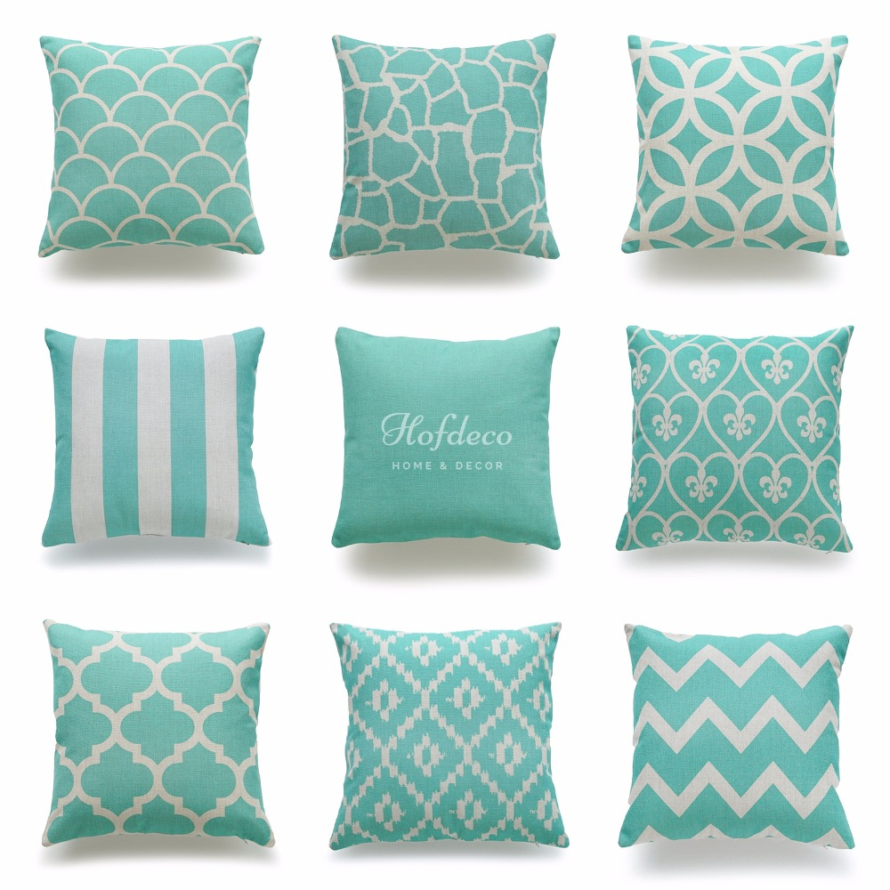 Online Get Cheap Striped Throw Pillows Aliexpresscom  : Decorative font b Throw b font font b Pillow b font Case Turquoise Aqua Geometric font from www.aliexpress.com size 1000 x 1000 jpeg 212kB