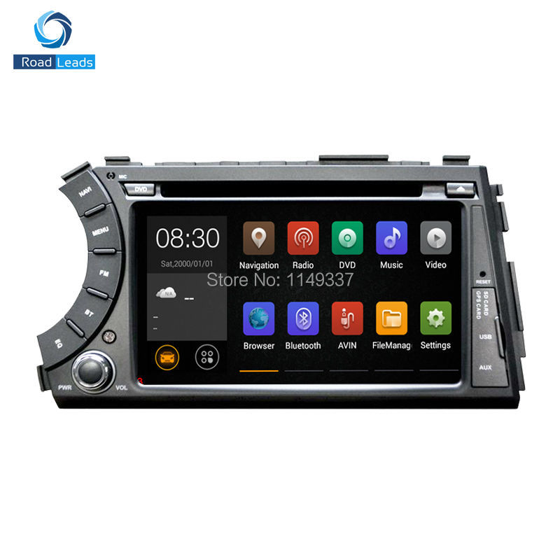 HD Capacitive Screen 1024*600 Android 4.4.4 Auto PC Car DVD GPS Navigation For Ssangyong Actyon Kyron Support 3G WiFi OBD DVR(China (Mainland))