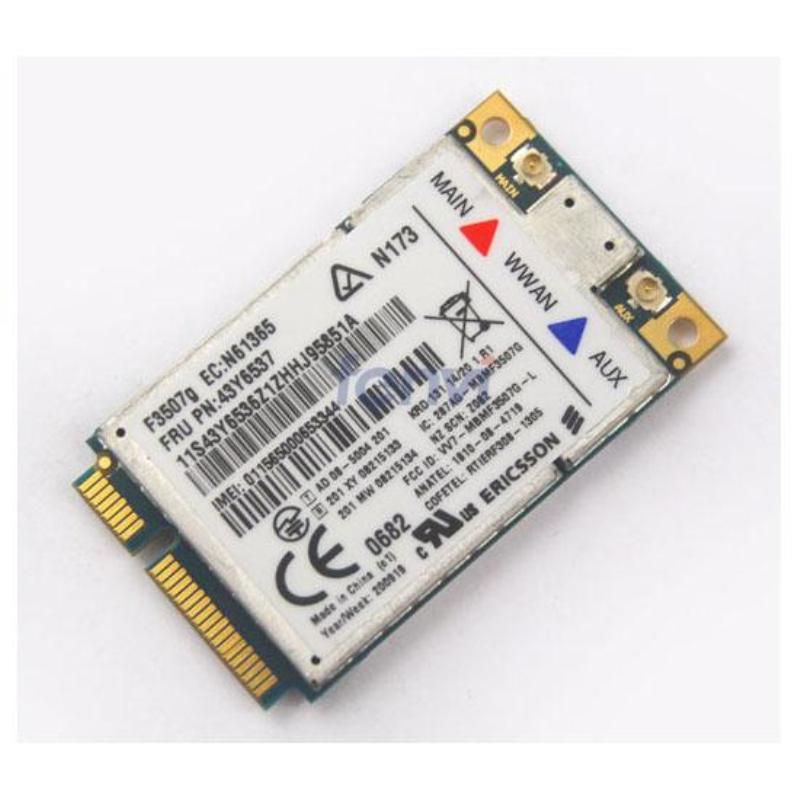 Ericsson F3507G Wireless 3G WWAN Broadband HSPA/WCDMA/EDGE/GPRS/GPS PCI-E 3G Card FRU:43Y6537 for IBM Thinkpad X200T T400 W500(China (Mainland))