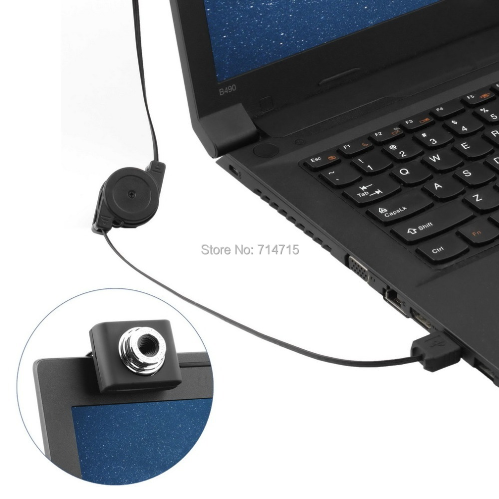 Mini USB 5M Retractable Clip WebCam Web Camera Laptop 100% Brand New(China (Mainland))