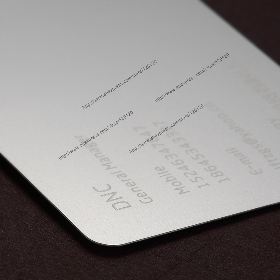 Personalized etched silver quality business metal card<br><br>Aliexpress