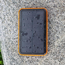 New style 12000mah double usb Waterproof solar power bank double usb bateria externa Portable solar charger for mobile phone(China (Mainland))