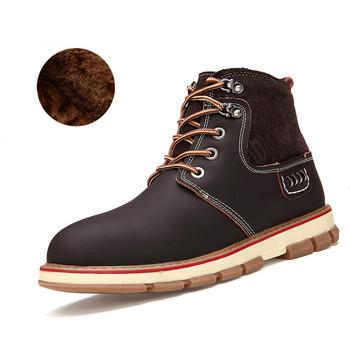 2015 новых людей высокое качество обувь из натуральной кожи, Зима ботильоны для мужчин, Мужская мода снегоступы, Мартин сапоги для мужчин