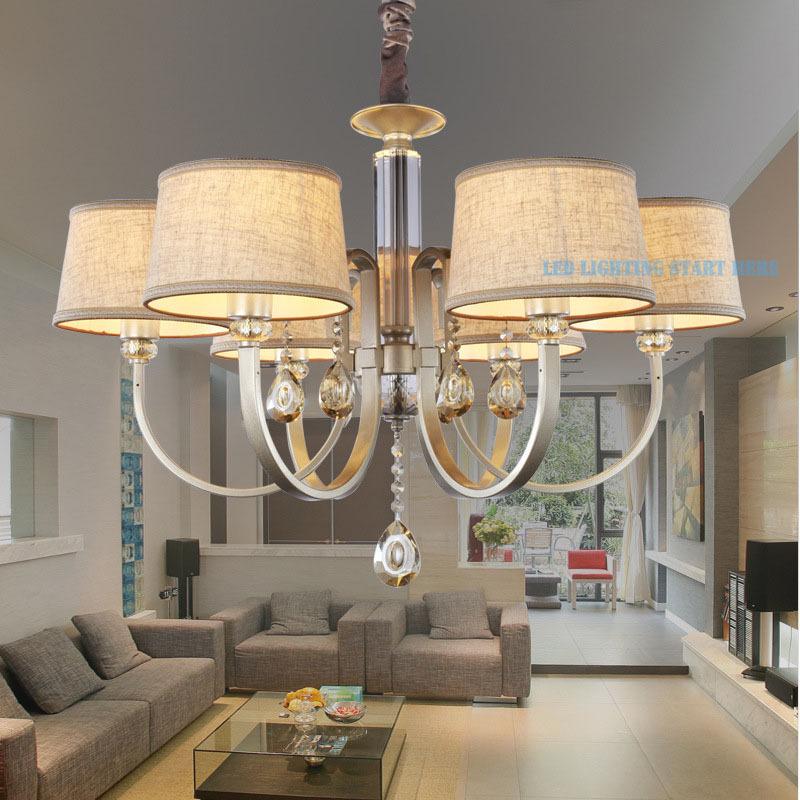 Nordic-Style-Linen-Modern-Fabric-Crystal-Chandeliers-Diameter-78cm-6 ...