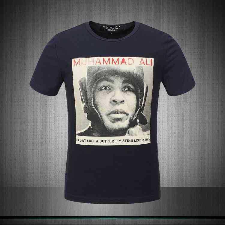 NEW Fashion wholesale 2014 brand Slim Men Muhammad Ali picture sleeved round neck short sleeve T-shirt(China (Mainland))