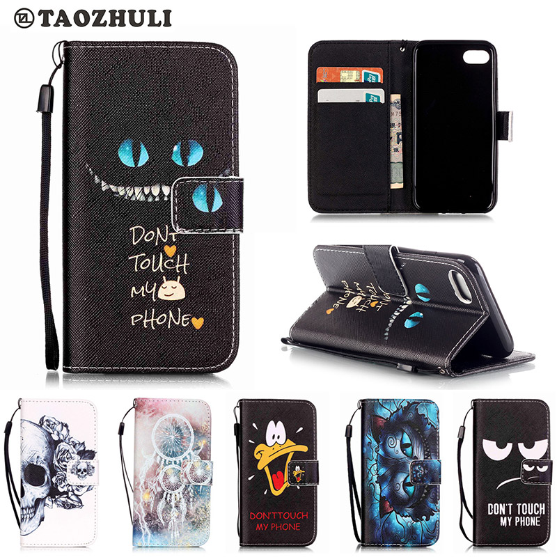 Fashion Cartoon Cat Pattern PU Leather Wallet Flip Magnetic Case Apple iPhone 7 iPhone7 4.7'' Back Cover Mobile Phone Bags