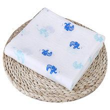 Puseky 110x110cm Newborn Baby Cotton Bat Man Plant Animal Soft Muslin Swaddle Shower Bath Towel Blanket Wrap Cloth Bedding Cover(China)