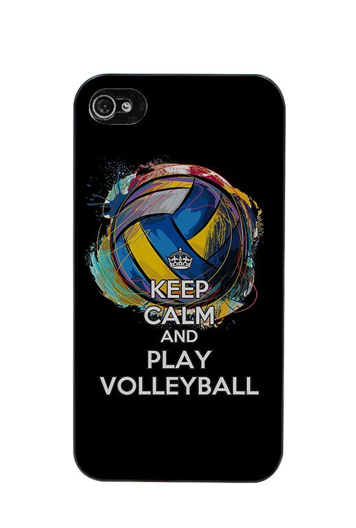 keep calm and play volleyball Cover case for iphone 4 4s 5 5s 5c 6 6s plus samsung galaxy S3 S4 mini S5 S6 Note 2 3 4 z2804(China (Mainland))