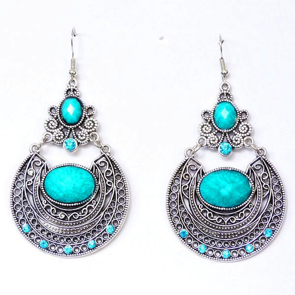 Explosion models retro palace carved hollow personality ear hook earrings(China (Mainland))