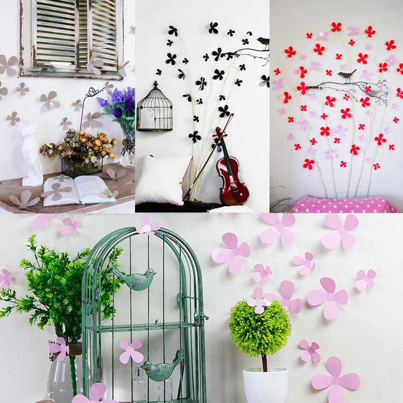 12 pcs 3d wall sticker stickers beauty flower home decor for 3d garden decoration
