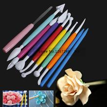 10pcs/lot diy tools for baking sugar cake mould multicolour shaping sculpture pen small knife(China (Mainland))