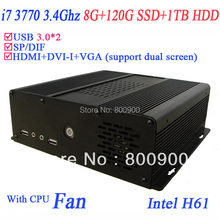 2013 new desktop computers i7 quad core 3770 3.4Ghz with Windows 7 X64 8G RAM 120G SSD 1TB HDD USB 3.0 HDMI VGA DVI S/PDIF(China (Mainland))