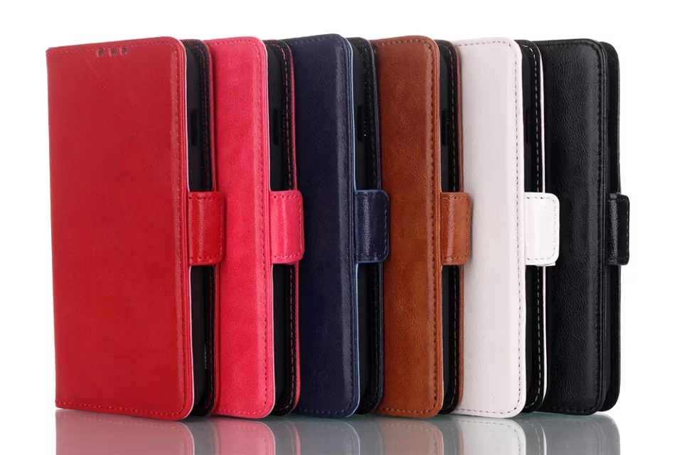 Hot! Oil Skin Flip Stand Wallet Smartphone Leather Protective Cover Case For LG L90 With Credit Card Slot & Free Shipping(China (Mainland))