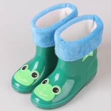 Sevimli Hayvan Baskı Çocuk Rainboots Şeker Renkler Bebek Çocuk yağmur ayakkabıları Tüm Mevsim Erkek Kız Tek Kürk Su Geçirmez yağmur çizmeleri(China)