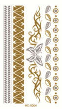 10x6cm HC5004 tatouage temporary fashion flash tattoos sex products gold tattoo wholesale temporary tattoo sticker