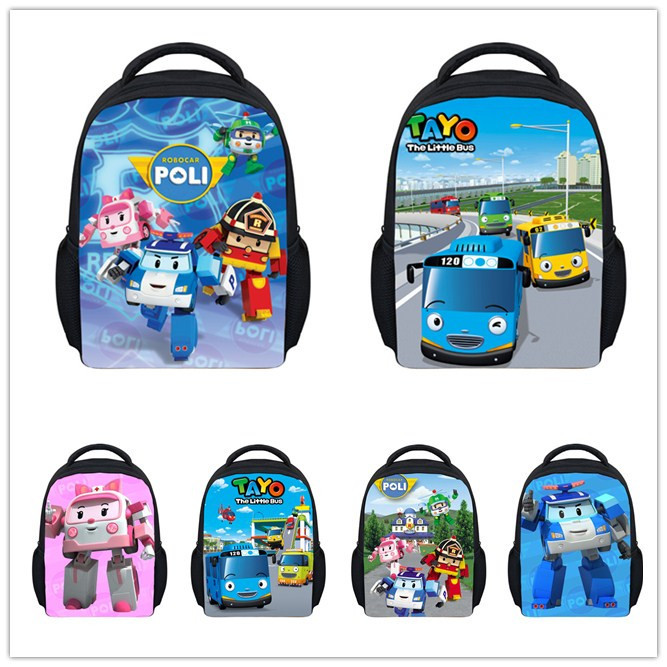 Mini Cartoon Robocar Poli Bag Children School Bags Kids Kindergarten Schoolbag for Boys Girls Small Backpack Mochila Infantil(China (Mainland))