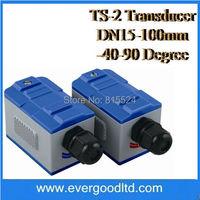 DN15-100mm -40-90 Degree TS-2 Clamp On Transducer for Ultrasonic Flow Meter Flowmeter