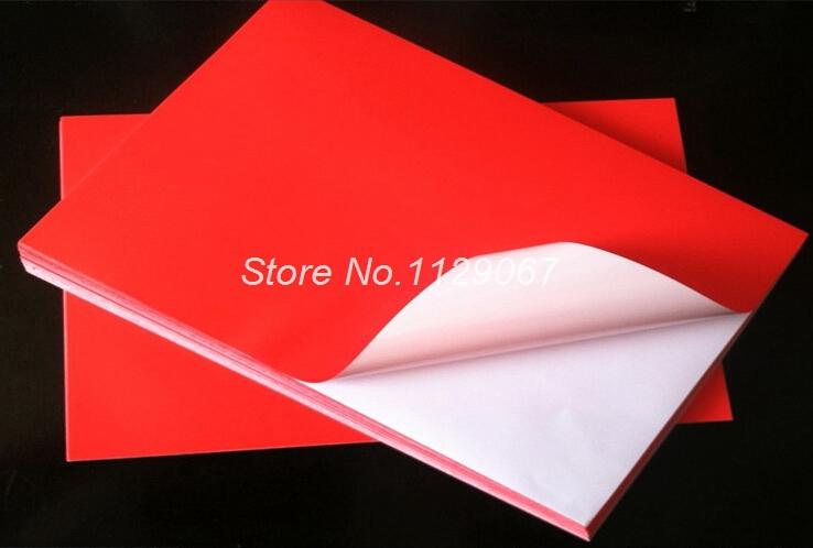 10 pcs a4 pp rouge synth tique papier auto adh sif autocollant papier papier d 39 impression. Black Bedroom Furniture Sets. Home Design Ideas