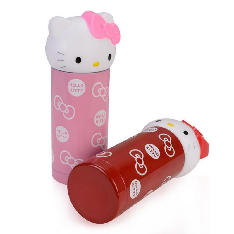 360ml double wall stainless steel insulated drinking water bottle, luxury kawaii Hello Kitty vacuum flask 2015(China (Mainland))