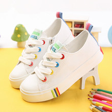 2016 spring New Children shoes child canvas shoes boy child white sneakers child single shoes casual girl shoes(China (Mainland))