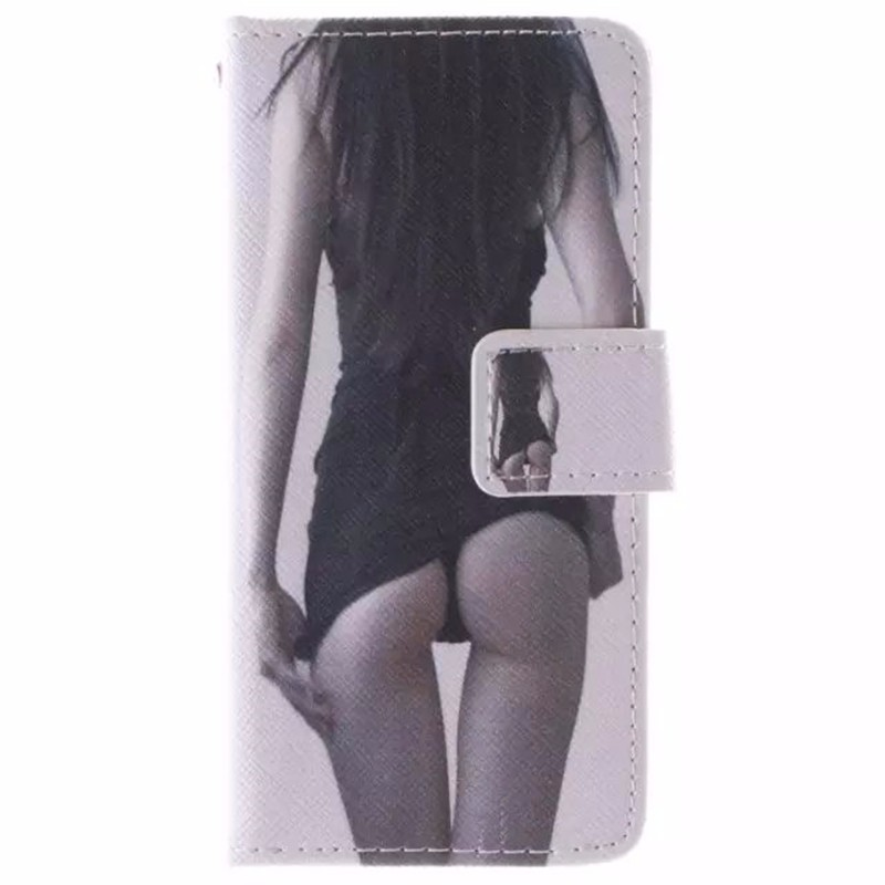 Painted Flip case Fundas For apple iphone 5S Leather + Silicon Wallet stand cover For Coque iphone 5 s /iphone5 Case Phone