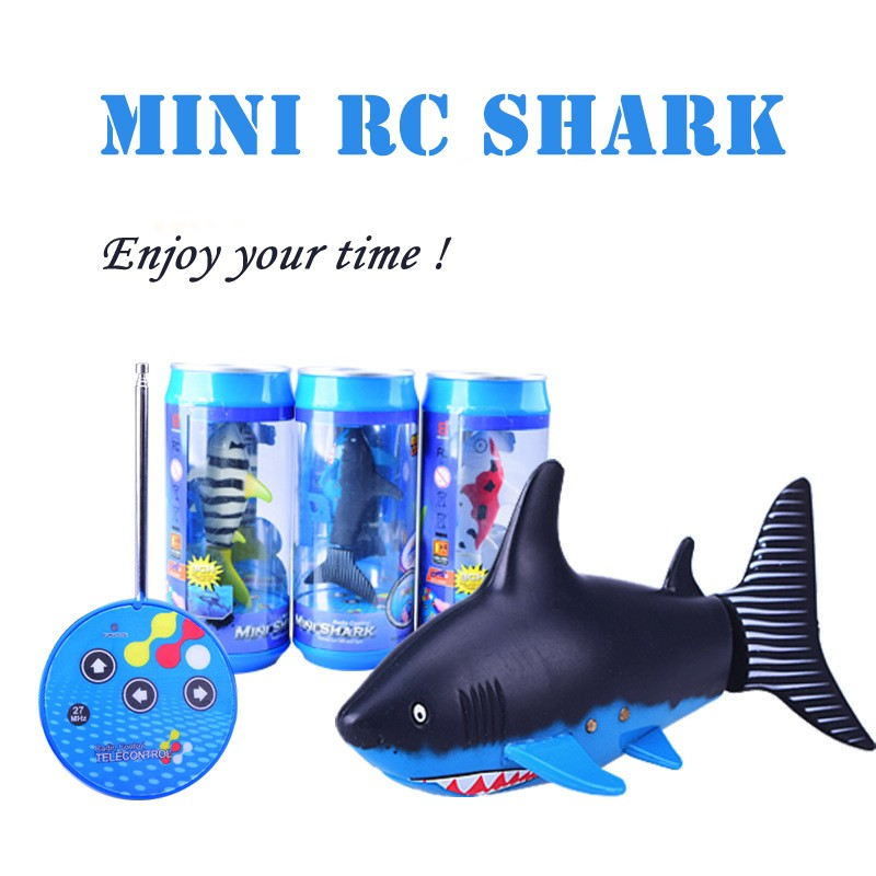 Create toys 3310b 3ch 4 way rc shark fish boat 27 40mhz for Mini shark fish