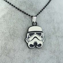 Star Wars Stormtrooper Metal Necklace Alloy Pendant Super Hero Necklace Movie Jewelry pendant 1pc