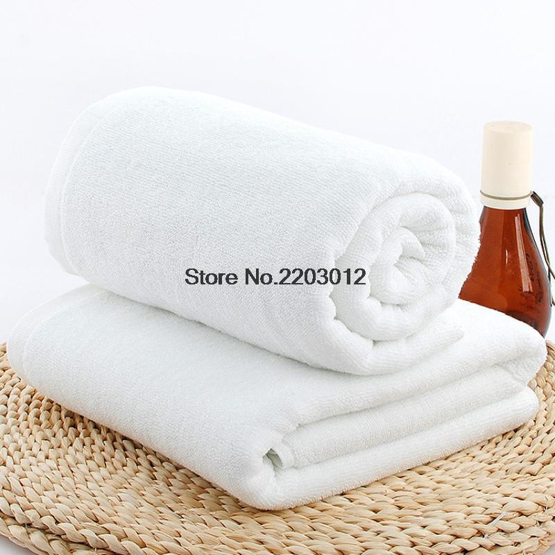 100% Cotton White Towels Quick-Dry Bath Beach Towel Soft Solid Adult Towel 70x140cm Home Textile Hotel Supply Free Shipping(China (Mainland))