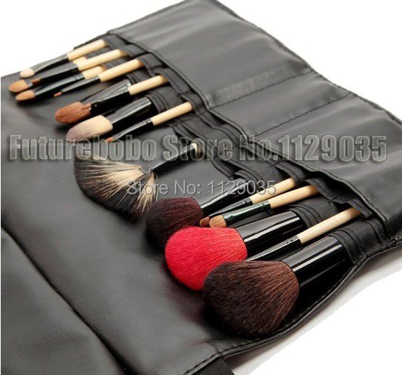16PC Fashion Soft Professional Makeup Cosmetic Brush Set Kit Case Black Bag Face Care Sex Product Goat Hair Make Up Styling Tool(China (Mainland))