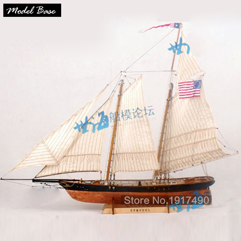 Wooden Ship Models Kits Educational Toy Model-Ship-Assembly DIY Train Hobby Wooden Ship 3d Laser Cut Scale 1/72 AMERICA 1851(China (Mainland))