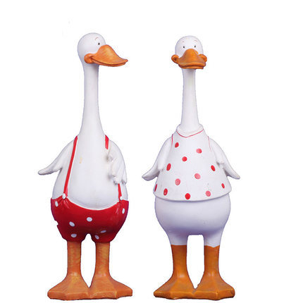 Mediterranean Style Duck Fingurine resin craft Ornaments Gift Wedding Gifts Home Decor Crafts - Forviews Industrial Co. Ltd store