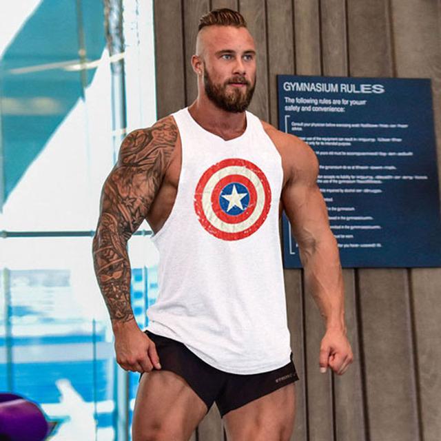Bodybuilding Men Undershirt