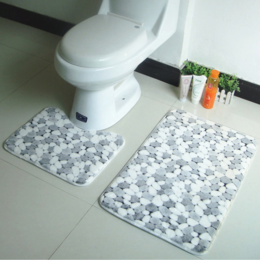 Non slip bathroom rugs