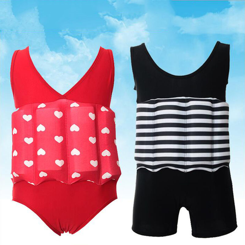Detachable Floating Swimsuits Baby Buoyancy Swimwear Siamese Swimming Training Kids Swimbest Float Suits HHK005