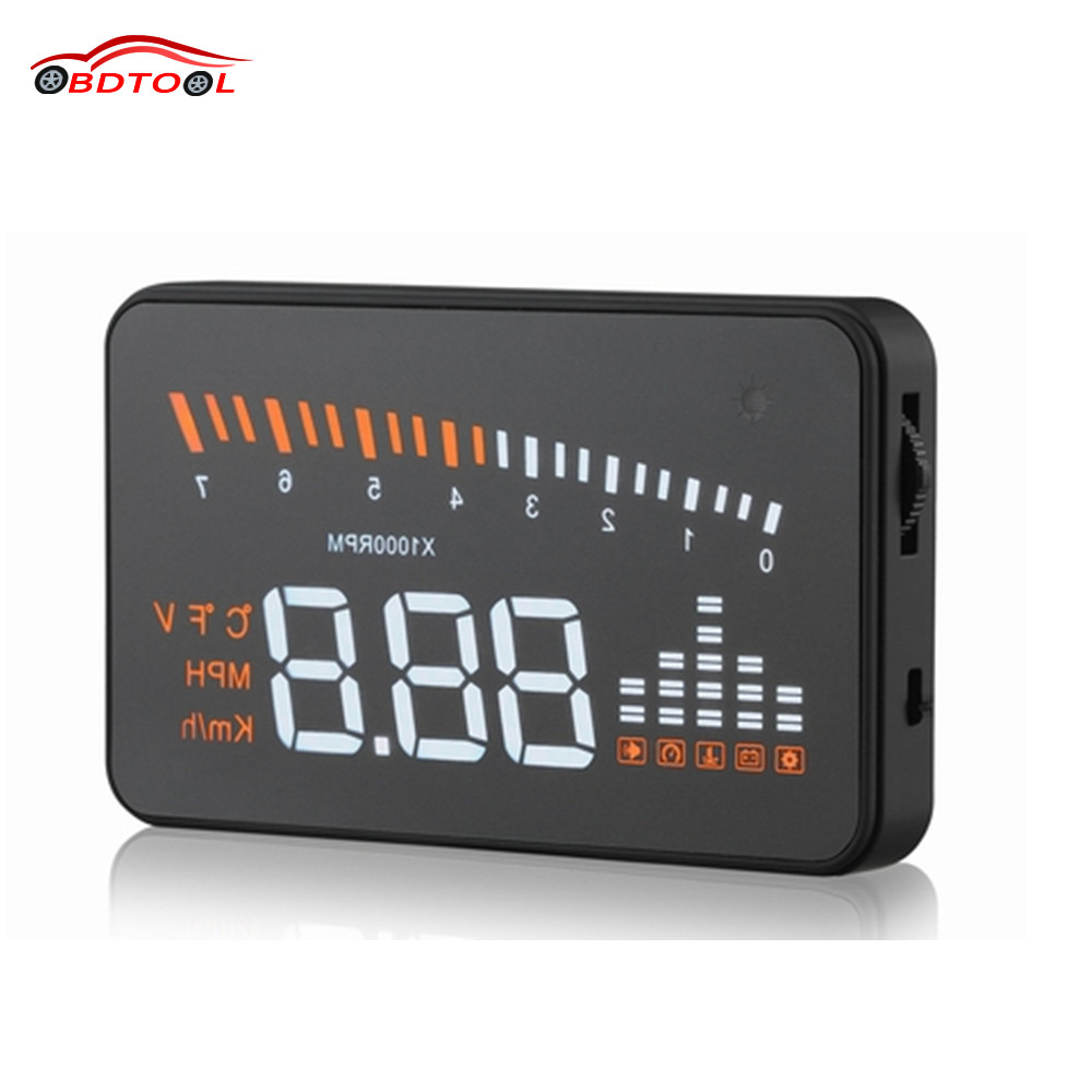 X5 3 inch Auto Car HUD Head Up Display Fuel Consumption Overspeed Warning Windshield Project Alarm System OBDII OBD 2 Interface(China (Mainland))